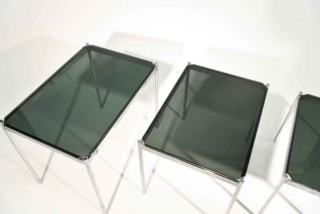 MID CENTURY MODERN CHROME TABLE GROUPING - 8
