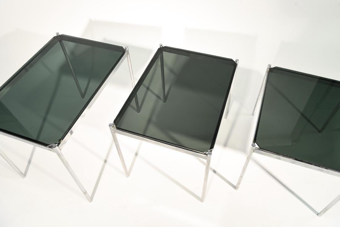 MID CENTURY MODERN CHROME TABLE GROUPING - 9