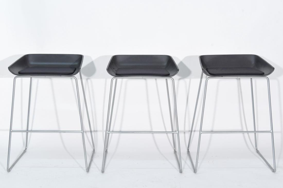 (3) CONTEMPORARY SCOOP STOOLS BY TURNSTONE