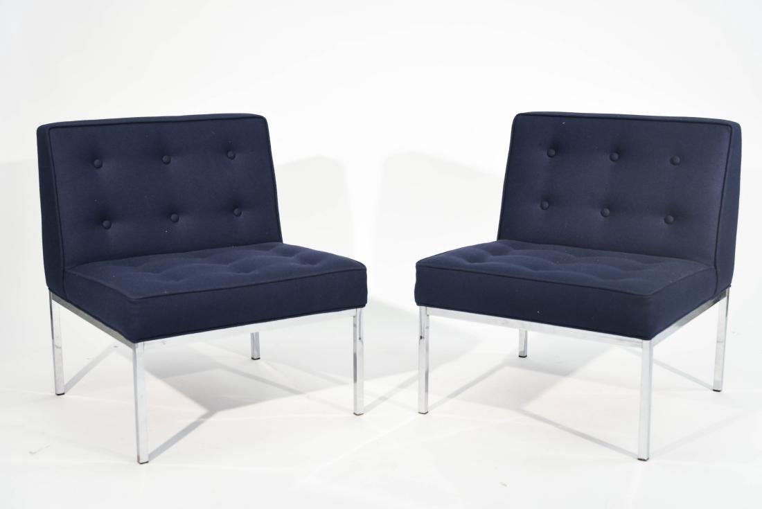 PAIR FLORENCE KNOLL STYLE SLIPPER LOUNGE CHAIRS