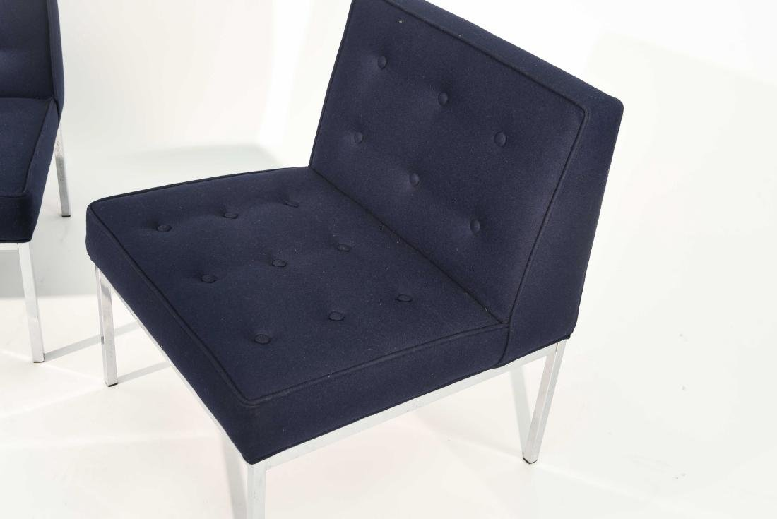 PAIR FLORENCE KNOLL STYLE SLIPPER LOUNGE CHAIRS - 4