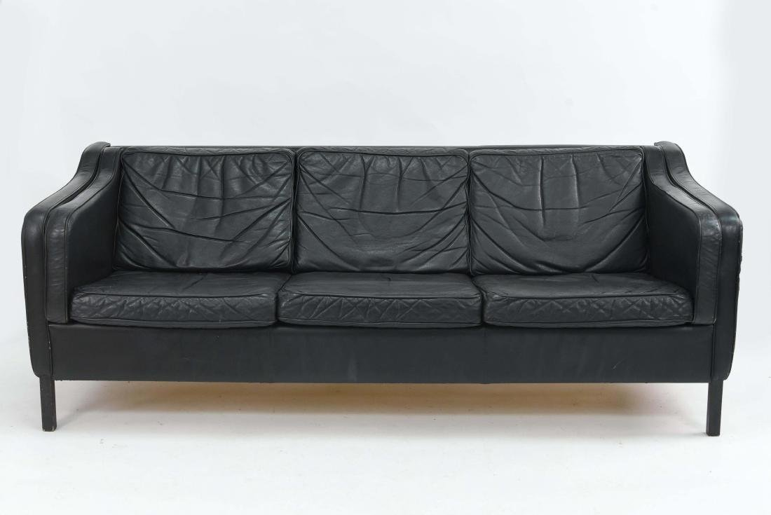 BORGE MOGENSEN STYLE THREE SEAT SOFA BY STOUBY