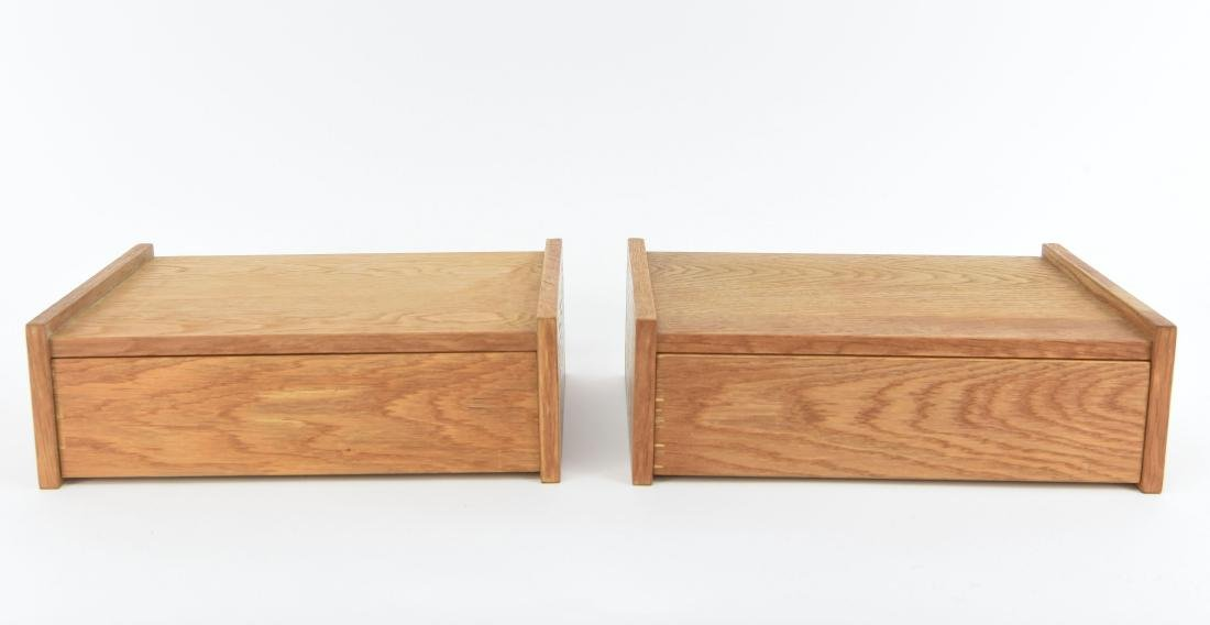 (2) DANISH OAK FLOATING SHELVES