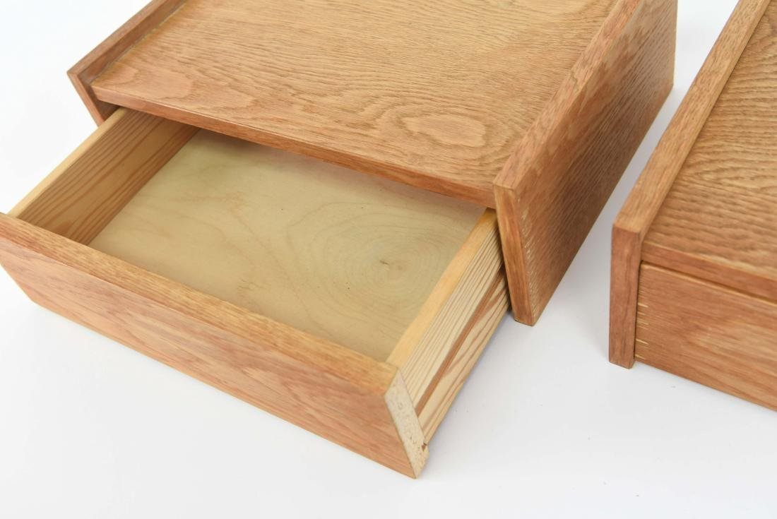 (2) DANISH OAK FLOATING SHELVES - 4
