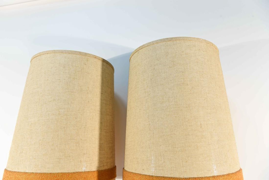 PAIR OF DANISH PLASTER TABLE LAMPS - 10