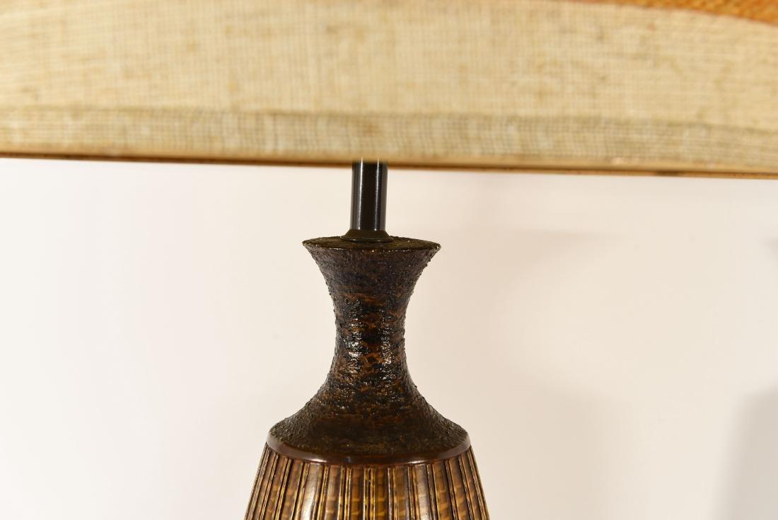 PAIR OF DANISH PLASTER TABLE LAMPS - 2
