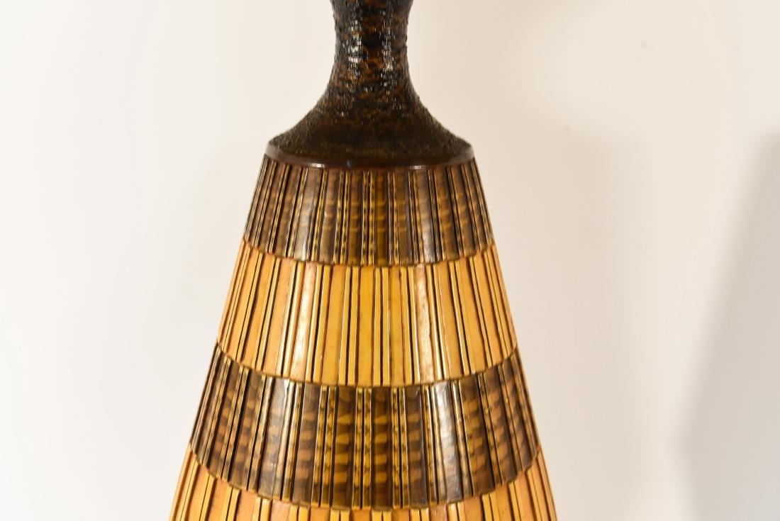 PAIR OF DANISH PLASTER TABLE LAMPS - 3