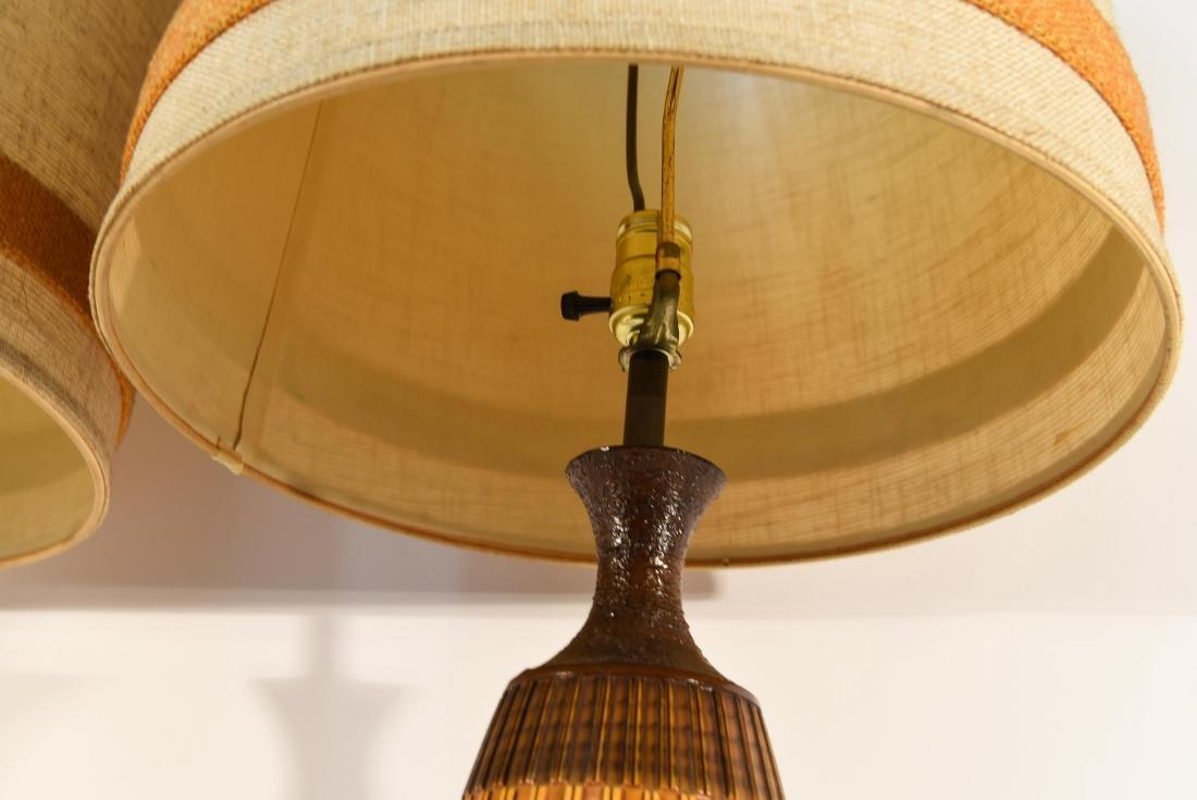 PAIR OF DANISH PLASTER TABLE LAMPS - 8