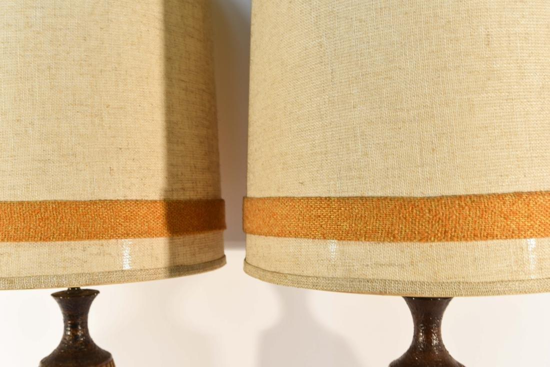 PAIR OF DANISH PLASTER TABLE LAMPS - 9