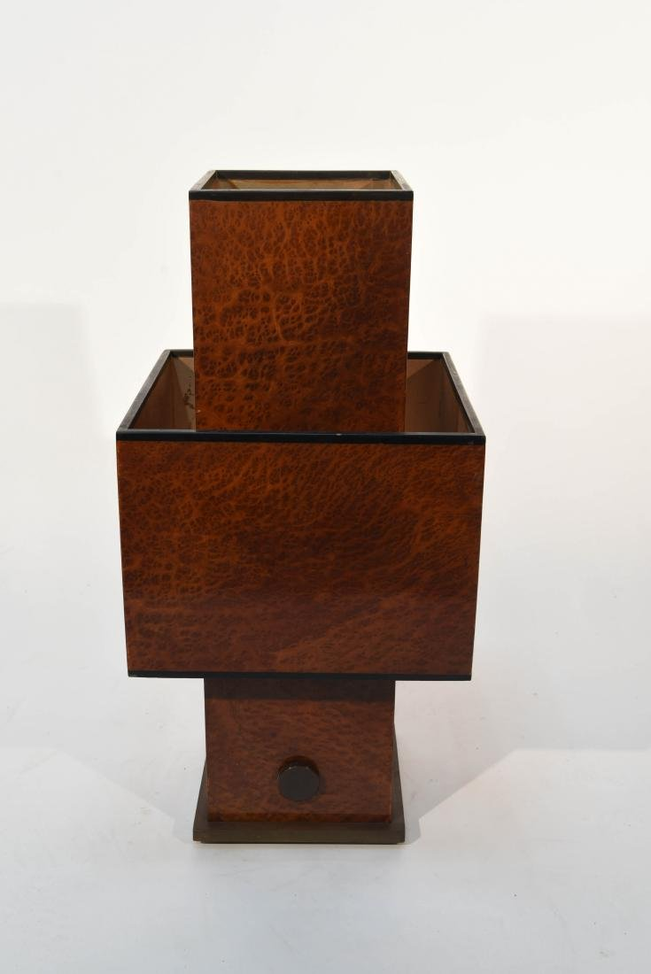 WILLY RIZZO BURL WOOD TABLE LAMP