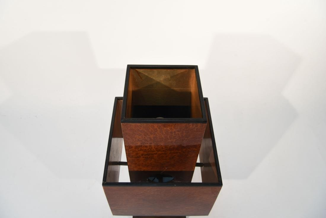 WILLY RIZZO BURL WOOD TABLE LAMP - 3