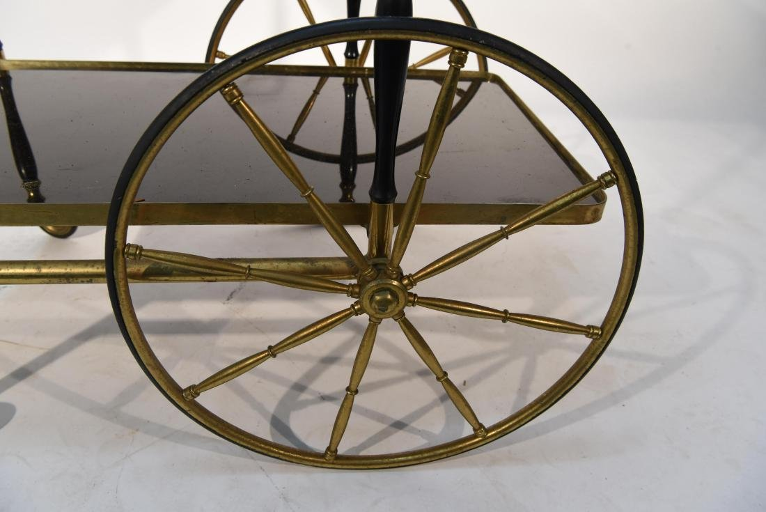 MID-CENTURY BRASS BAR CART - 3