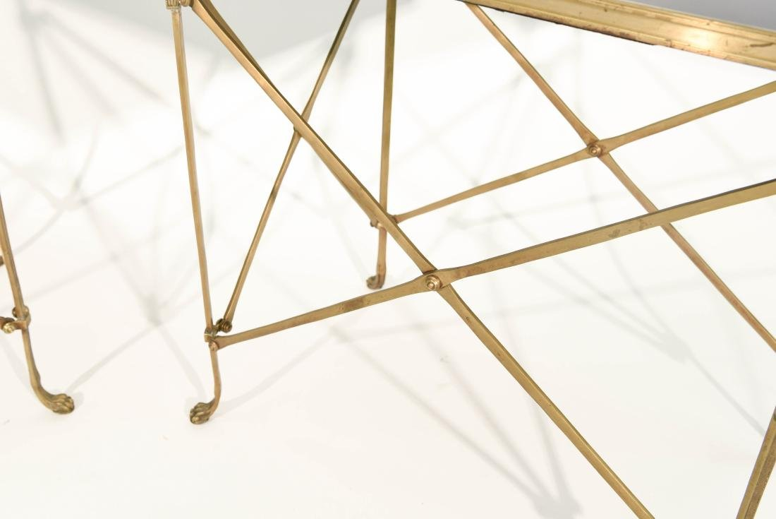 CLASSICAL STYLE MARBLE AND BRONZE SIDE TABLES - 7