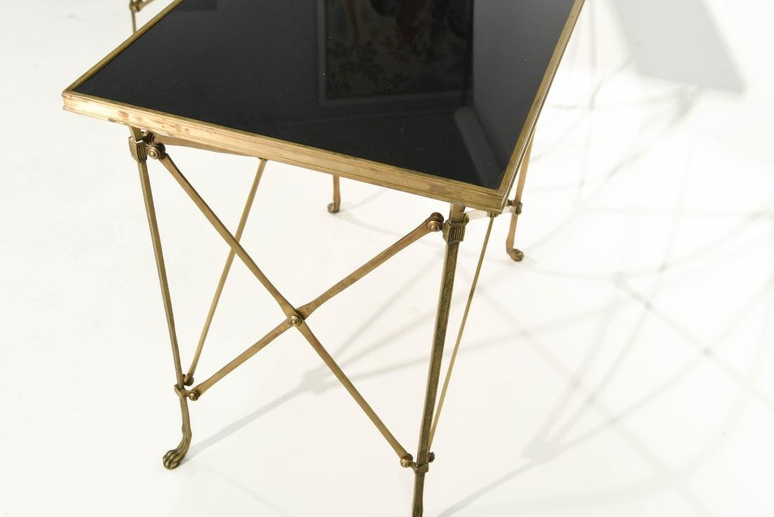 CLASSICAL STYLE MARBLE AND BRONZE SIDE TABLES - 8