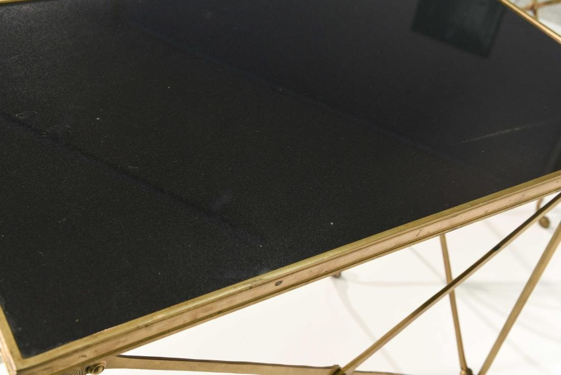 CLASSICAL STYLE MARBLE AND BRONZE SIDE TABLES - 9