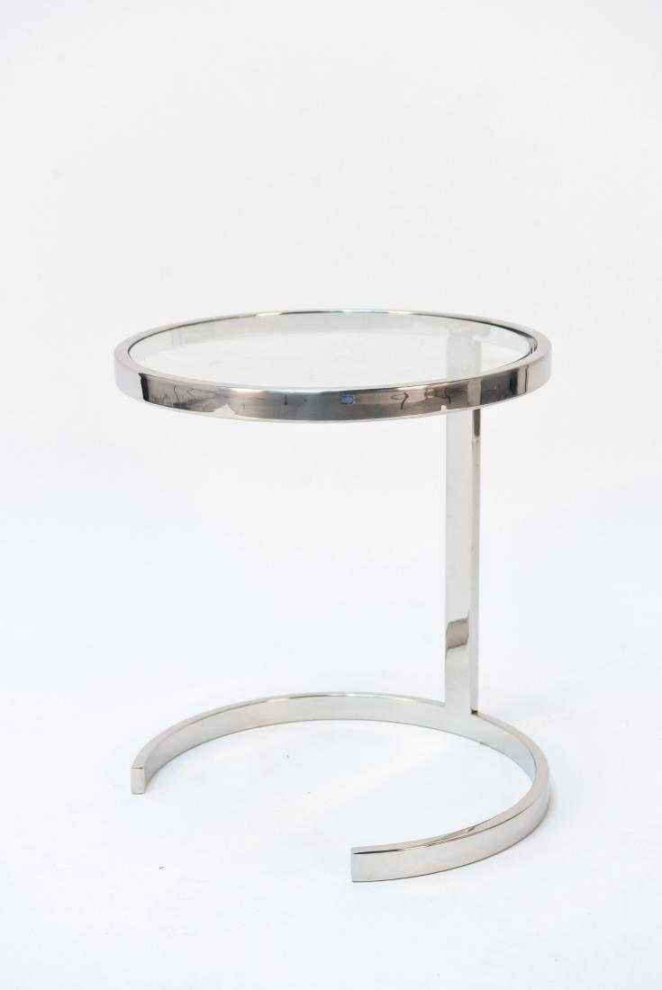 SMALL CHROME SIDE TABLE PACE STYLE