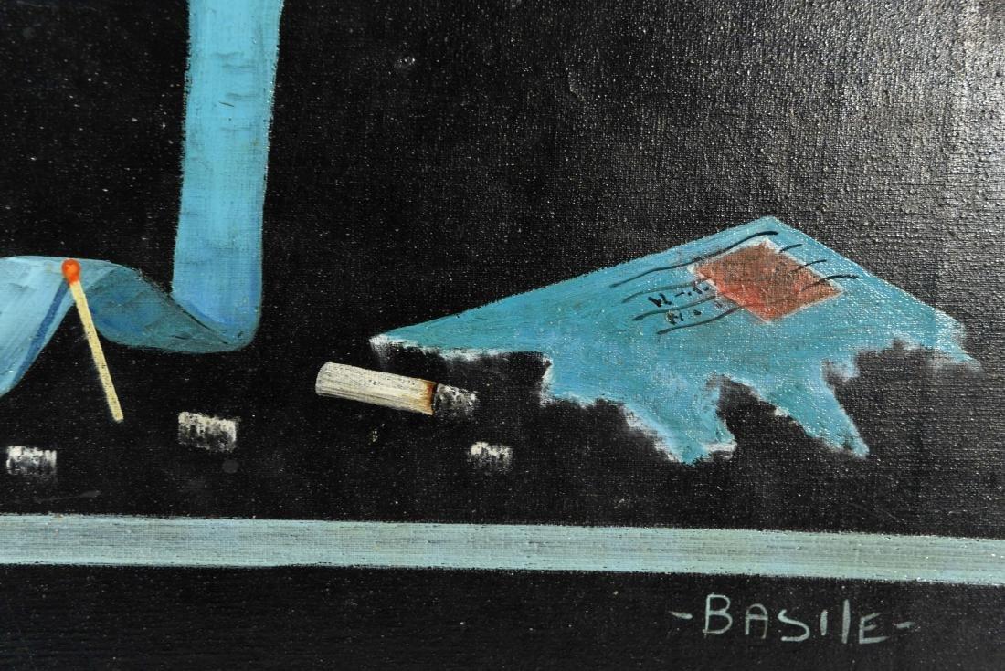 TROMPE L'OEIL O/C SIGNED BASILE - 4