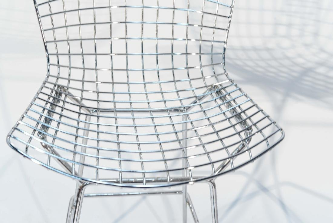 PAIR OF CHROME BERTOIA BAR STOOLS - 2