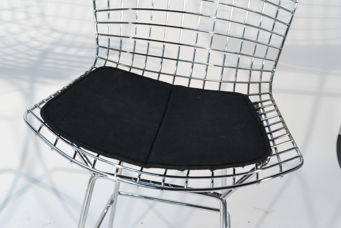 PAIR OF CHROME BERTOIA BAR STOOLS - 4