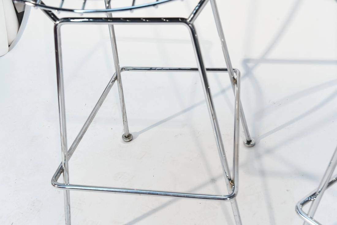 PAIR OF CHROME BERTOIA BAR STOOLS - 6