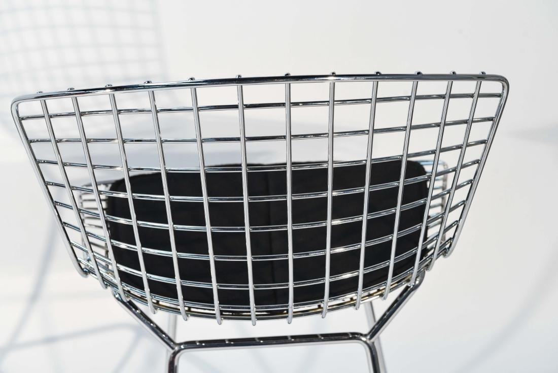 PAIR OF CHROME BERTOIA BAR STOOLS - 8
