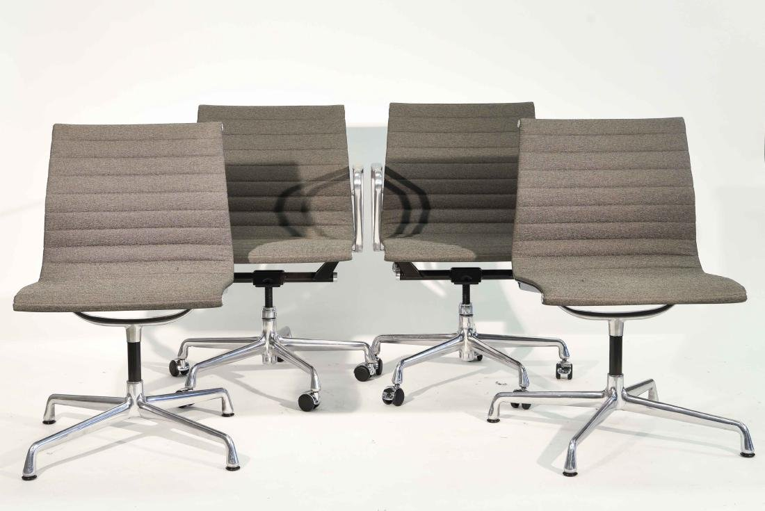(4) EAMES ALUMINUM GROUP ARM CHAIRS