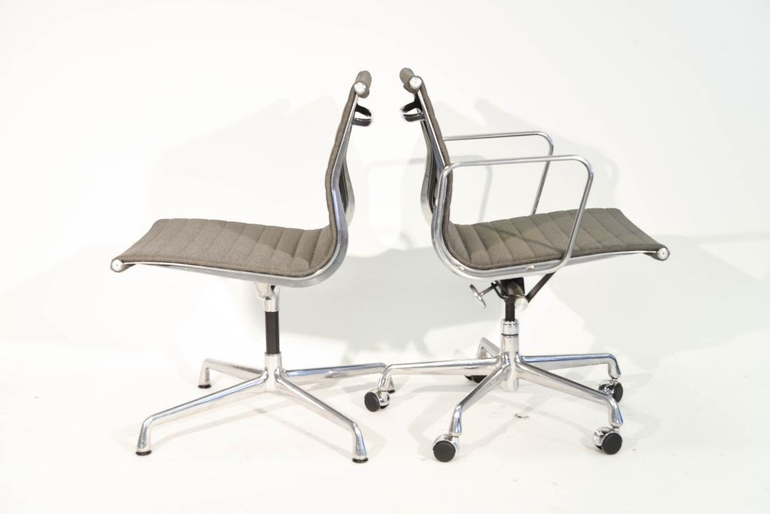(4) EAMES ALUMINUM GROUP ARM CHAIRS - 8
