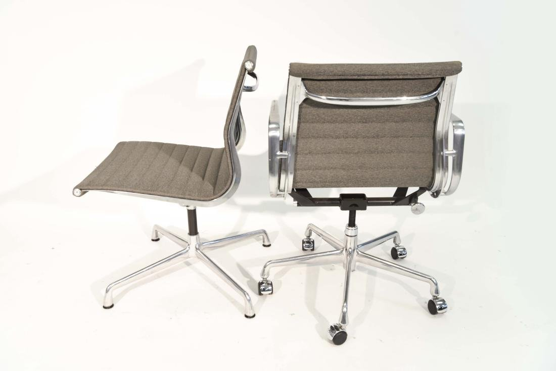 (4) EAMES ALUMINUM GROUP ARM CHAIRS - 9