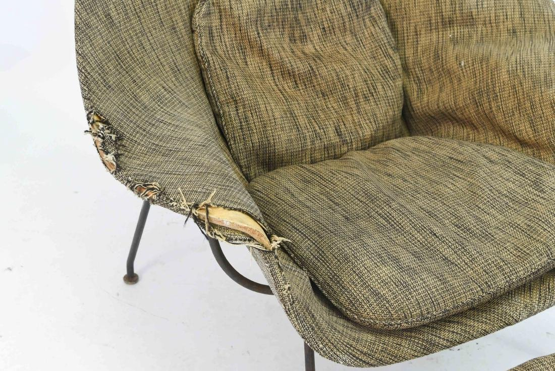 SAARINEN WOMB CHAIR & OTTOMAN - 3