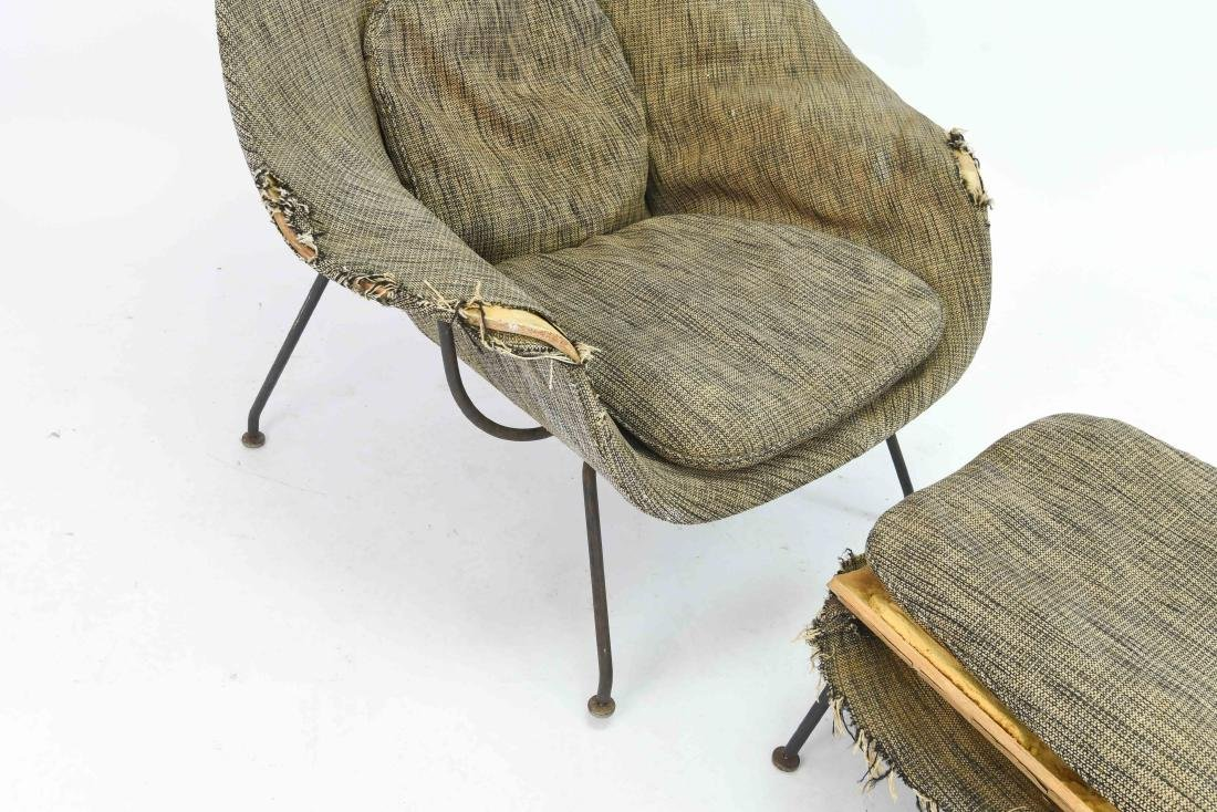 SAARINEN WOMB CHAIR & OTTOMAN - 5