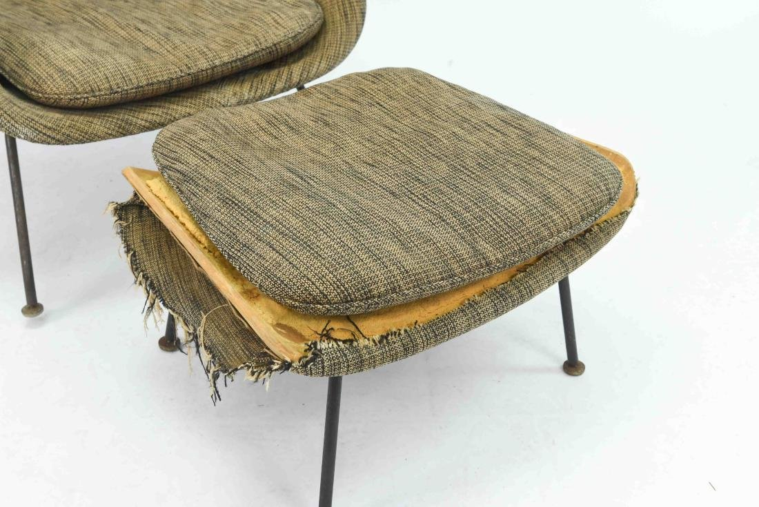 SAARINEN WOMB CHAIR & OTTOMAN - 6