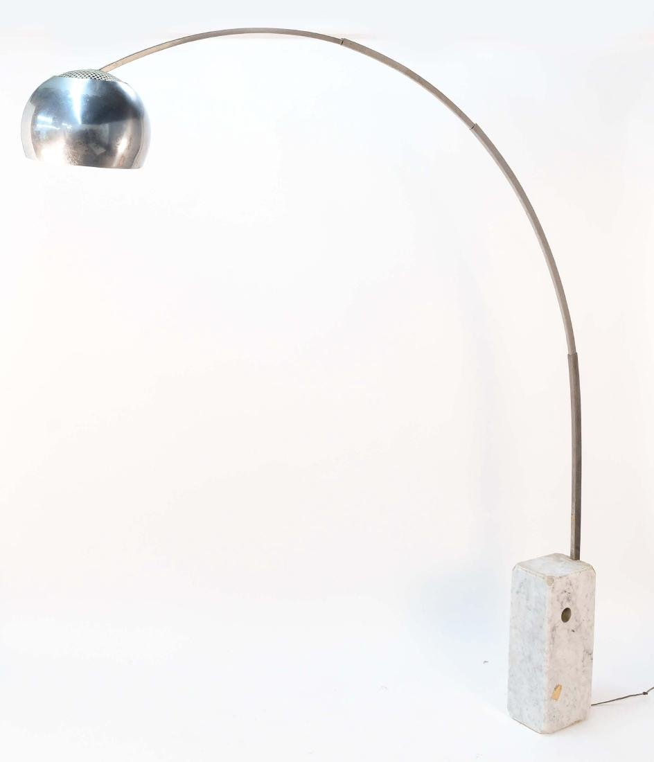 ARCO MARBLE & CHROME FLOOR LAMP