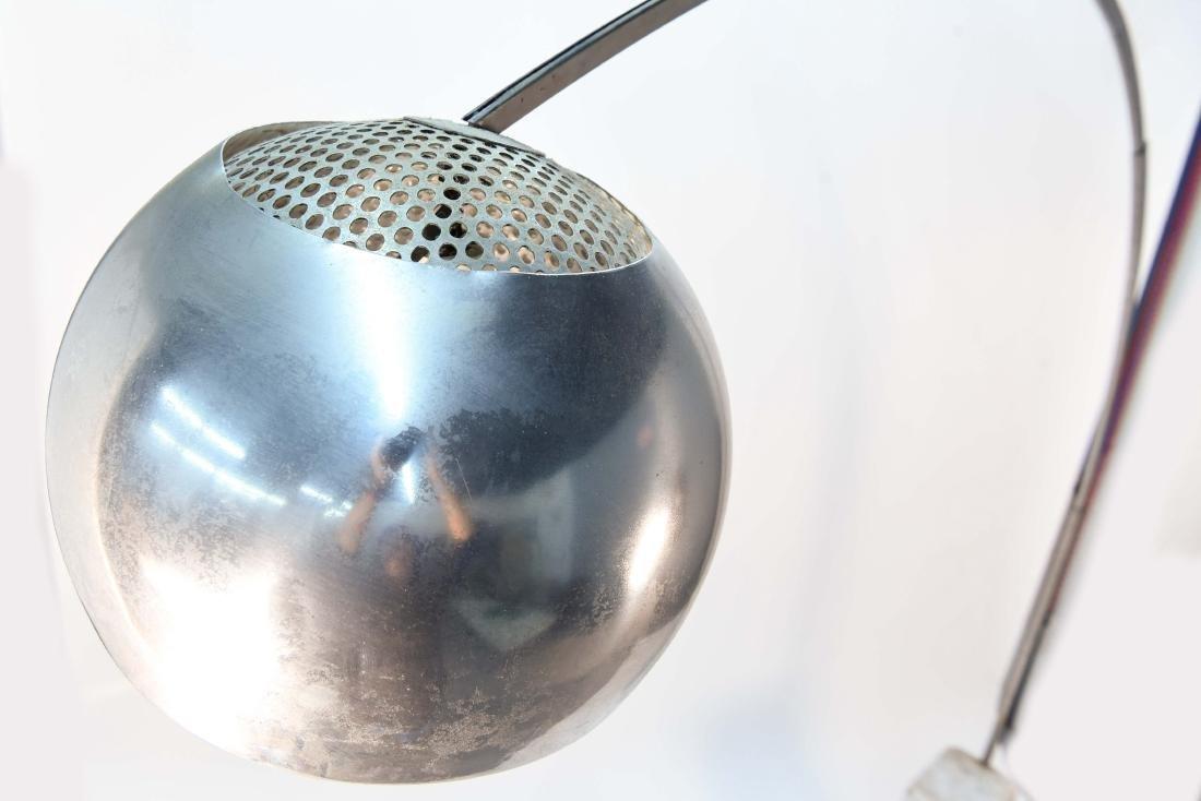 ARCO MARBLE & CHROME FLOOR LAMP - 2