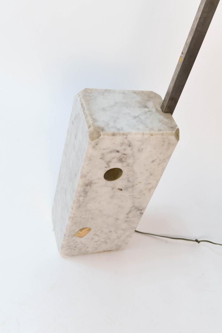 ARCO MARBLE & CHROME FLOOR LAMP - 5