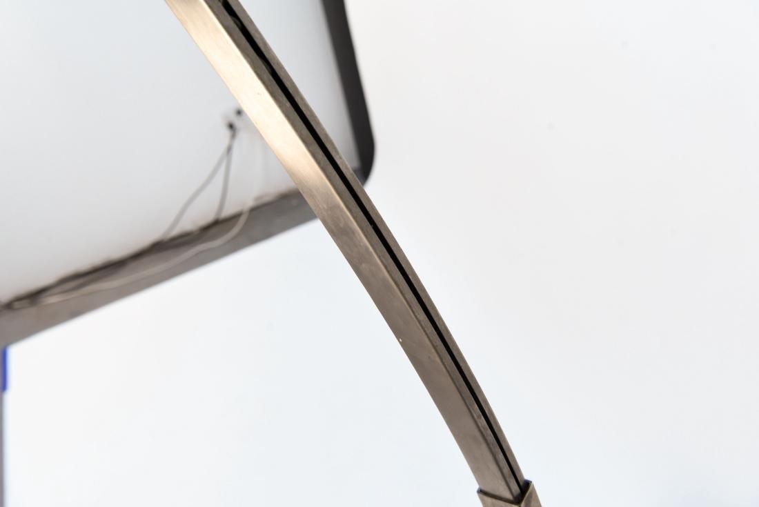 ARCO MARBLE & CHROME FLOOR LAMP - 7