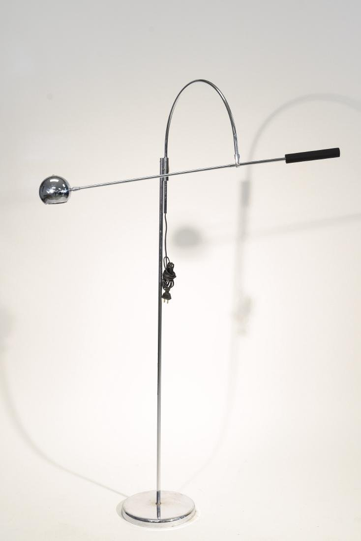 CHROME ARTICULATED FLOOR LAMP