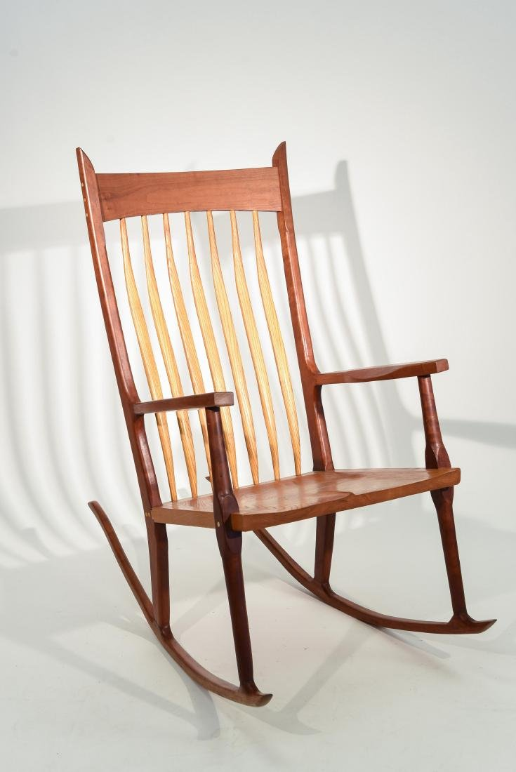 VINTAGE BENCH MADE ROCKING CHAIR