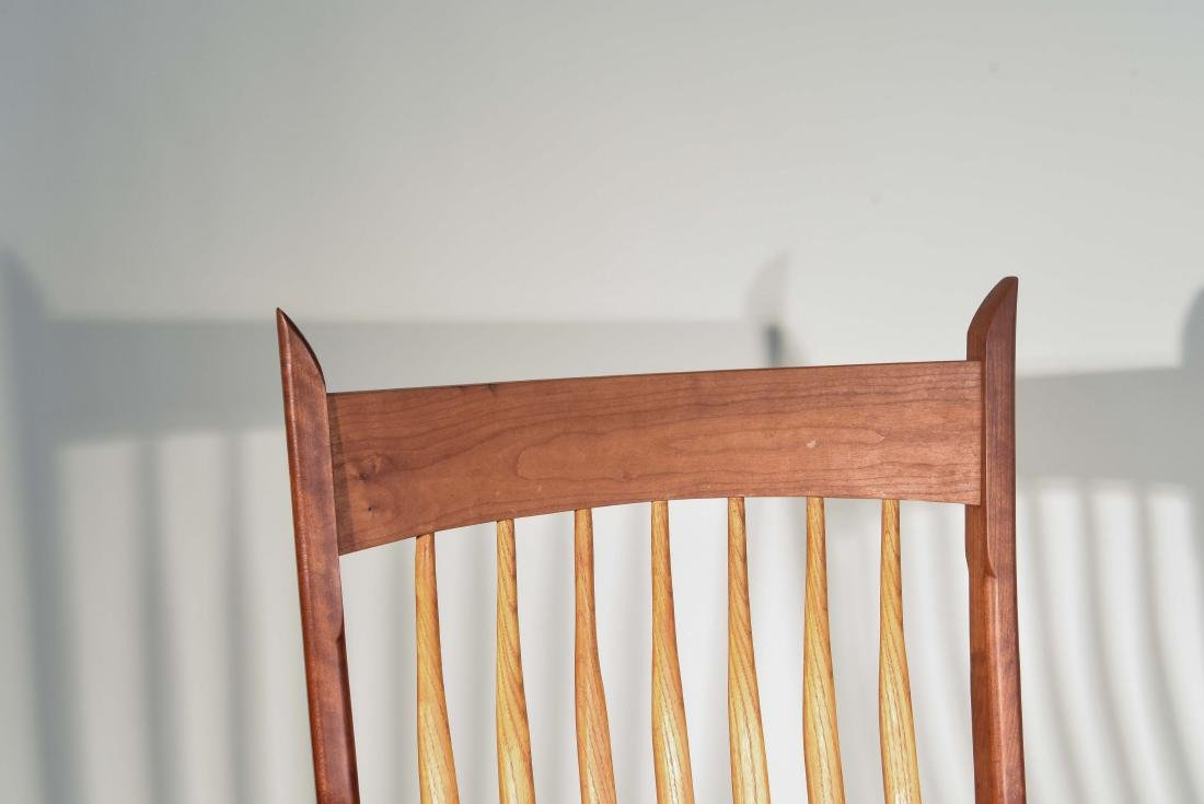 VINTAGE BENCH MADE ROCKING CHAIR - 2
