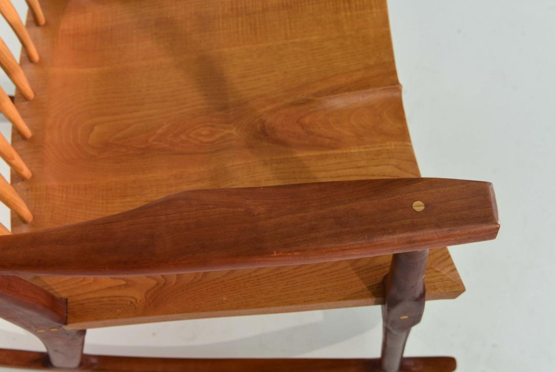 VINTAGE BENCH MADE ROCKING CHAIR - 4