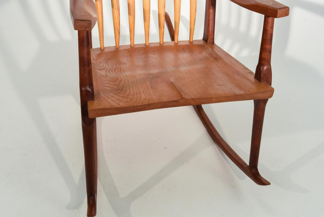 VINTAGE BENCH MADE ROCKING CHAIR - 8