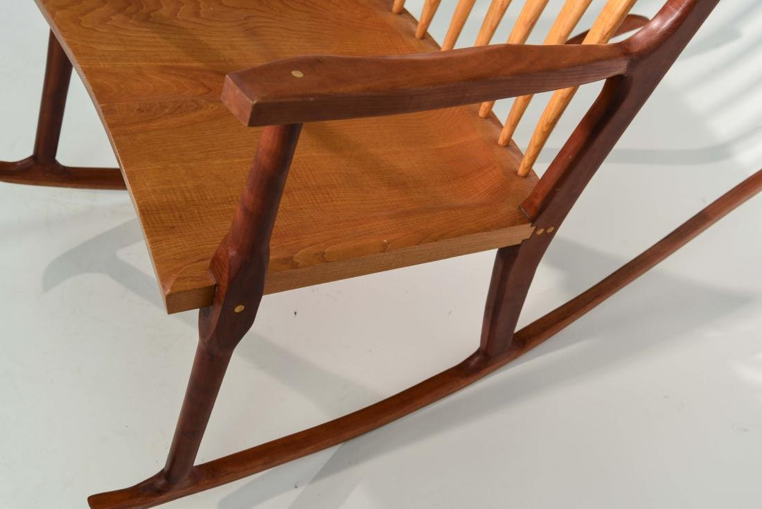 VINTAGE BENCH MADE ROCKING CHAIR - 9