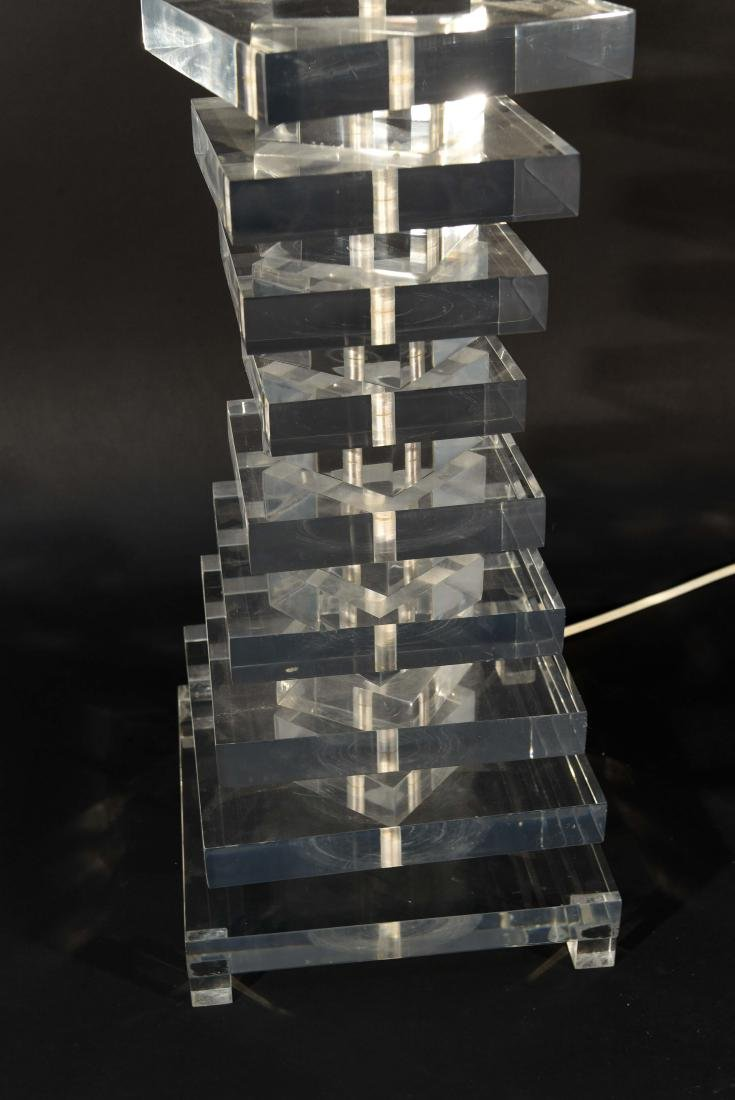 STACKED LUCITE TABLE LAMP - 2
