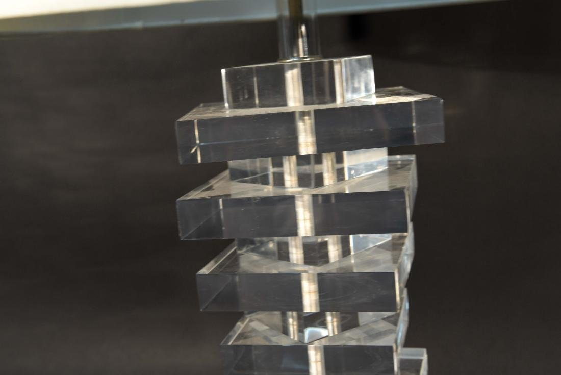 STACKED LUCITE TABLE LAMP - 3