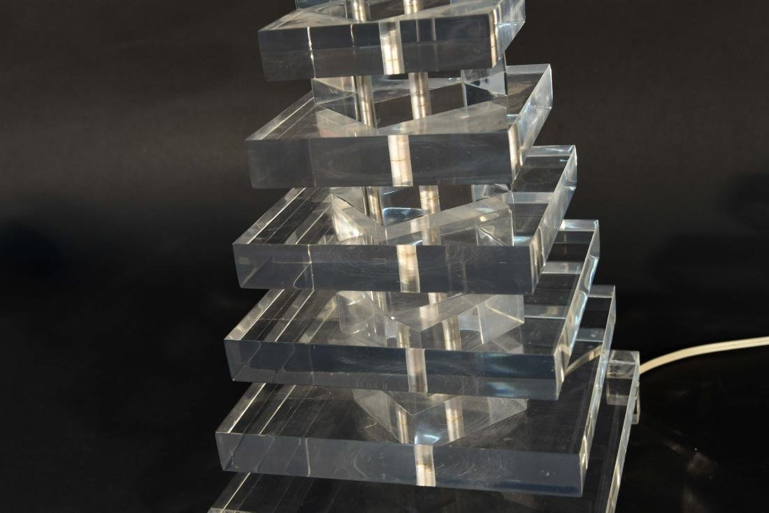 STACKED LUCITE TABLE LAMP - 4