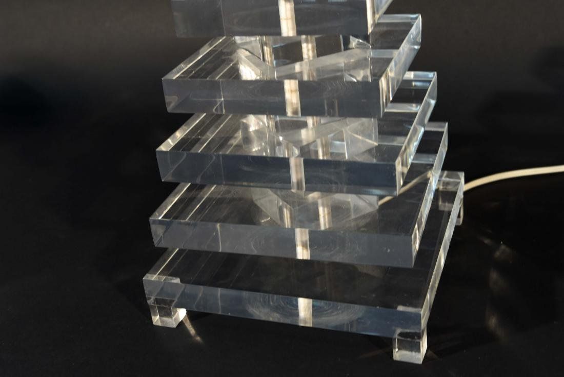 STACKED LUCITE TABLE LAMP - 5