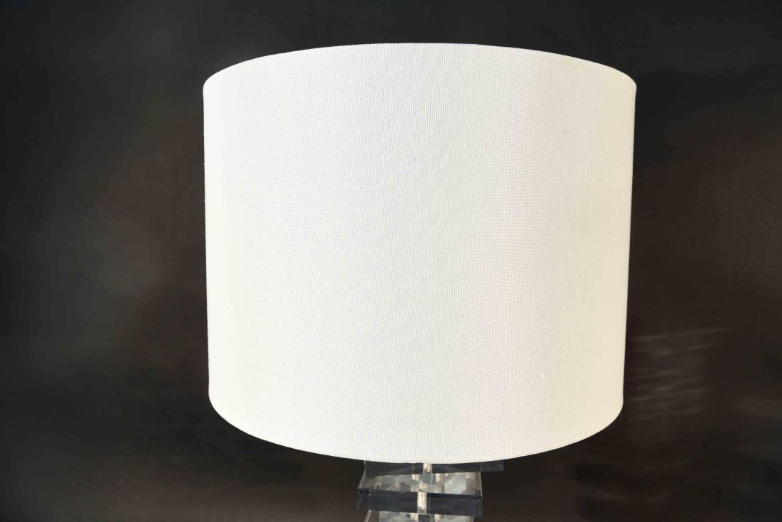 STACKED LUCITE TABLE LAMP - 6