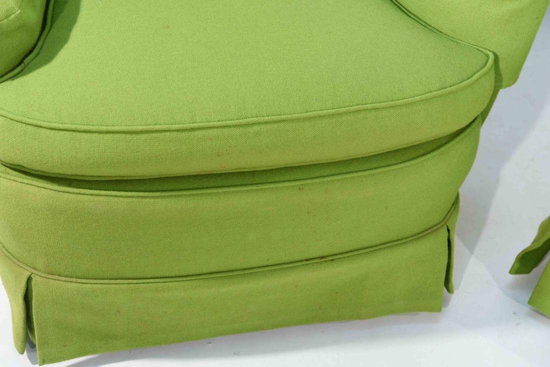 PAIR OF MID-CENTURY LIME GREEN CLUB CHAIRS - 2
