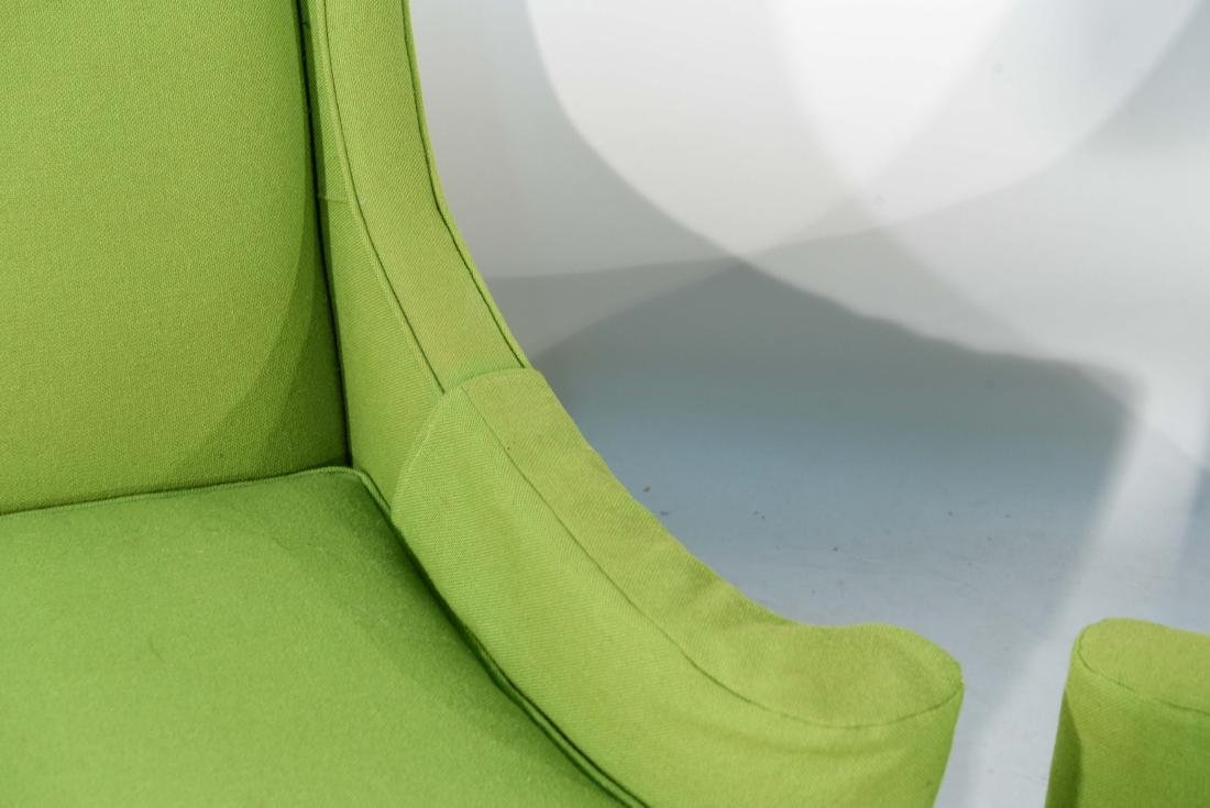 PAIR OF MID-CENTURY LIME GREEN CLUB CHAIRS - 3