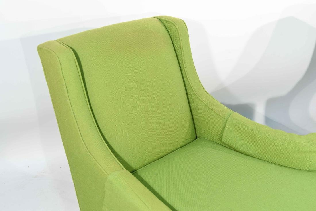 PAIR OF MID-CENTURY LIME GREEN CLUB CHAIRS - 4