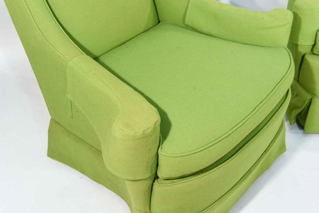PAIR OF MID-CENTURY LIME GREEN CLUB CHAIRS - 5